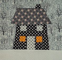 Calendar of Houses Bee: January Block What a great idea for the studio Quilted houses calendar House Quilt Patterns, House Quilt Block, House Quilts, Quilt Block Patterns, Quilt Blocks, Sampler Quilts, Children's Quilts, Easy Quilts, Paper Piecing