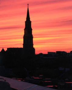 Downtown Charleston, this infamous view. Taken at sunset. Provided by Erin Southerlin.