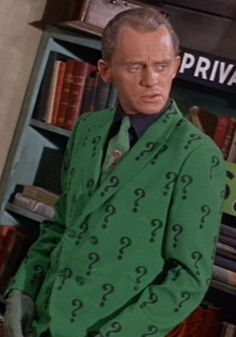 Frank Groshin (born in Pittsburgh, PA) as The Riddler in the 1966 Batman t.v. series.