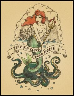 Hard Long Road Home Tattoo Flash | KYSA #ink #design #tattoo