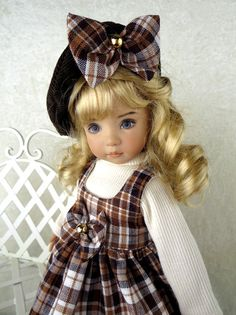 Plaid Jumper. For Effner 13, Little Darling. Betsy McCall. *LittleCharmersDoll
