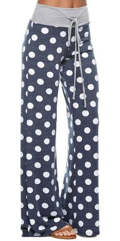 Marilyn & Main Women's Comfy Soft Stretch Floral Polka Dot Pajama Pants at Amazon Women's Clothing store: