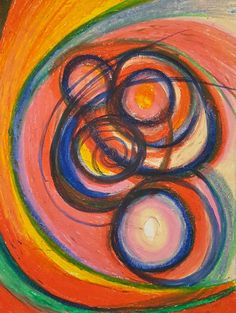 Available for purchase on etsy. Click to buy! #abstract #art #oil #pastel #oilpastels #artist #colorful #color #curves #curve #lines #circle #circles #drawing #drawings #illustration