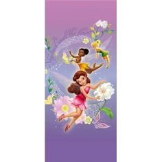 Disney Fairies - Rosetta, Klara and Tinkerbell, Wonderful Flowers x Wallpaper Embossed Wallpaper, Wallpaper Roll, Wall Wallpaper, Tinkerbell And Friends, Disney Fairies, Disney Cartoon Characters, Disney Cartoons, Poster Disney, Poster Mural