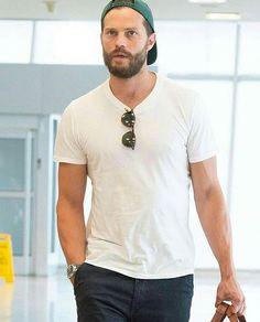 Jamie at JFK airport leaving NY on Friday afternoon June 2019                        Jaime Dornan, Anastasia Grey, Fifty Shades Movie, Mr Grey, Evolution Of Fashion, Irish Men, Christian Grey, Fifty Shades Of Grey