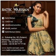 Off shoulder batik dress