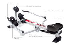 If you have restricted space, or time This rower is for you. Conservative and compact the arms overlap down so the rower can be put away in a small space. Paddling is generally known to be one of the best all around exercises for cardiovascular wellness and quality an aggregate body workout that is productive, successful, low-affect and uses all significant muscle gatherings including the back, legs, arms, abs and posterior.