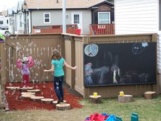 backyard play area | backyard play area | Diy I like the idea of the walls sectioning off areas of a large backyard