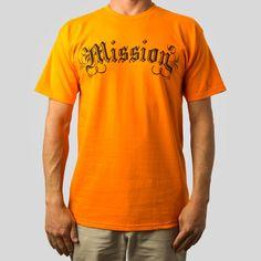 Mission Script T-Shirt in Orange