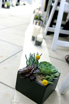 Centerpiece idea with black box
