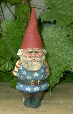 "SALE Wilfred Americana (Vintage Good Luck Gnome) 7-1/2"" Tall NEW. via Etsy."