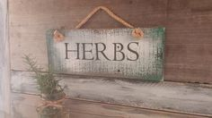 Rustic Herb Sign Garden Signs Custom Kitchen Gift For Dad Herbs Distressed Bo Ho Style