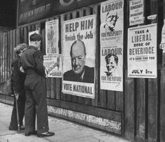 Democracy in action. British parliamentary elections, 1945.