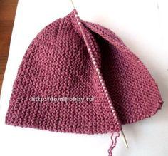 Вязание шапочки спицами укороченными рядами