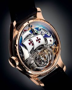 Zenith Academy Christophe Colombe Hurricane Grand Voyage watch caseback