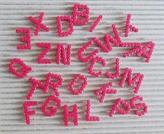 Bügel-Alphabet hama perler von kleines-AhBeCe