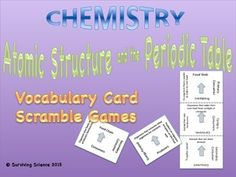 Listing of words made from periodic table element symbols is one of atomic structure the periodic table vocabulary scramble game urtaz Choice Image