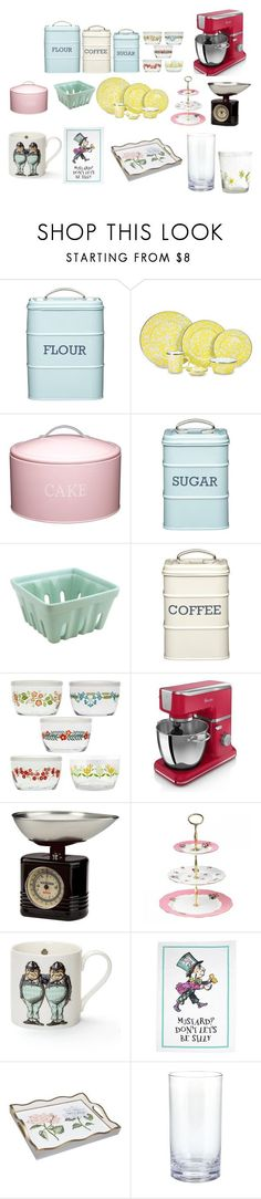 """Vintage-like kitchen"" by laurensguitar111 on Polyvore featuring interior, interiors, interior design, home, home decor, interior decorating, Thos. Baker, Kitchen Craft, Swan and Typhoon"