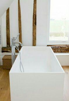 Modern country white bathroom
