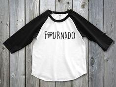 Four Year Old Boy Shirt, fourth birthday boy, Fournado Raglan, 4th Birthday Shirt, Fourth Birthday Girl Shirt, 4th Birthday Outfit