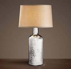 19th C. Vintage Mercury Glass Medium Table Lamp   Restoration Hardware - table lamp for dresser option