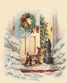 Vintage Scottish Themed Greeting Card Images on CD. $9.99, via Etsy.