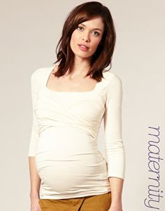 ASOS MATERNITY 3/4 Sleeve Wrap Bust Top  $44.93  NOW $26.96
