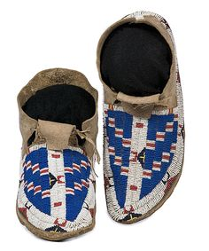Sioux Beaded Hide Moccasins (2010, American Indian & Western Art, September 10)