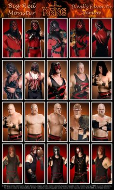 Triple H Poster featuring his various looks throughout his career.