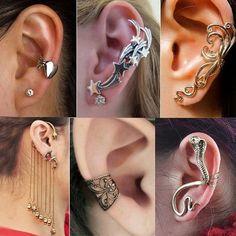 Awesome Earrings Ear Cuffs Estilo Rock Jewelry Accessories Geek Nice
