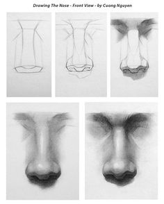 Drawing the nose- Step by step via @icuong in instagram ❤️ #art