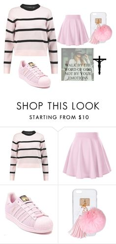 """Walk By The Word of God! rtd"" by lifeissweet170000 ❤ liked on Polyvore featuring Être Cécile, adidas and Ashlyn'd"