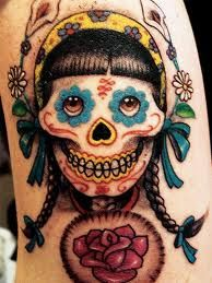 Putting together ideas for a couple upcoming DDLM/Sugar Skull tats.  This one's not so much me, but I like it.  Great eyes.