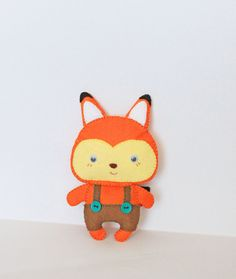 Felt fox toy  cute handmade fox  gift idea by MiracleInspiration, $12.00