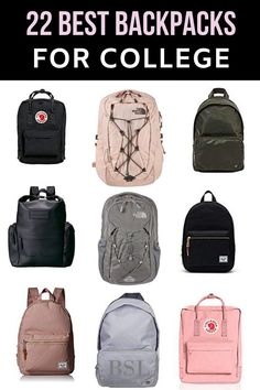 omg I am in love with these backpacks! For some reason I always get obsessed with searching for college bags for girls before I go to school and I am definitely getting one of these college backpacks for me College Backpack Organization, College Backpack Women, College Bags For Girls, Best Backpacks For College, Cute Backpacks For School, College Fun, Cool Backpacks, Espn College, Teen Backpacks