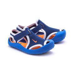 Sandalia chancla niño Nike Sunray protect azul
