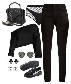 """""""Untitled #4198"""" by magsmccray ❤ liked on Polyvore featuring Agent Provocateur, Yves Saint Laurent, Ray-Ban, Puma and Witchery"""