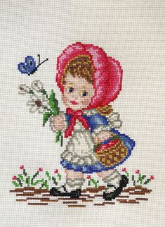 This Pin was discovered by Ayf Cross Stitch Cushion, Cross Stitch Bird, Cute Cross Stitch, Cross Stitch Alphabet, Cross Stitch Flowers, Cross Stitch Designs, Cross Stitching, Cross Stitch Embroidery, Hand Embroidery