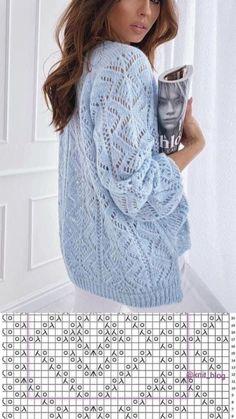 Lace Knitting Stitches, Lace Knitting Patterns, Knitting Charts, Knitting Designs, Summer Knitting, Crochet Fashion, Knit Crochet, Sweaters, Clothes