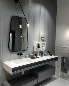 Классический серый актуален всегда. Все внимание к деталям: монолитная столешница из искусственного камня со вставкой для полотенец зеркало неправильной формы в металлической тёмной раме бра в поддержку... Скромно но как роскошно смотрится! #italy #интерьер #ВАННАЯ #ванная_комната #дизайнванной #зеркало #интерьер #челябинск #Че #дизайнер #дизайнмосква #дизайнпроект #дизайнудаленно #интерьер #design #details #bathroom #mirror #isaloni2016 #isaloni #bagno #italy #interior #interiordesign…