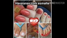 Havaianas com esmalte. 25/02/2017.