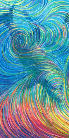 Dolphin Healing Energy Painting Giclee by energyjewelrystore