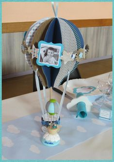 Shower Party, Baby Shower Parties, Baby Boy Shower, Hot Air Balloon Party, Granny Square Slippers, Baby Shawer, Ideas Para Fiestas, Baby Birthday, Collage Sheet