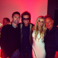 ...going to our friend PK's house for the #SuperBowl Party ~ pic with PK on R and Robbie & Claudine Keane LA Galaxy Cpt.