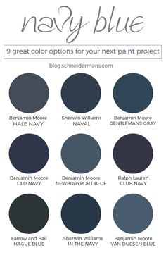 Navy blue is trending and there are a lot of navy blue paint colors. Which is th… – Painting Navy Paint Colors, Exterior Paint Colors, Exterior House Colors, Paint Colors For Home, Navy Blue Color, Navy Blue Paints, Blue Gray Paint Colors, House Paint Exterior, Dark Navy Blue