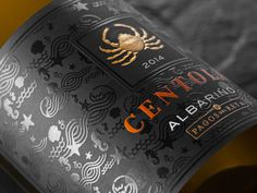 Centola on Packaging of the World - Creative Package Design Gallery Beer Label Design, Wine Bottle Design, Wine Bottle Labels, Beer Labels, Bottle Packaging, Coffee Packaging, Food Packaging, Juice Branding, Wine Brands