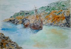 shipwreck in Kalotaritissa of Amorgos www.amorgosartgallery.gr