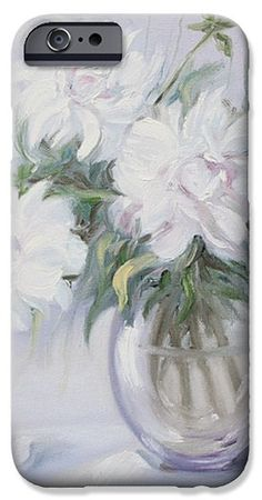 MORNING WITH WHITE PEONIES by ELENA ANTAKOVA..   Belongs to the gallery RUSSIAN ARTISTS NEW WAVE.  Exqusite lightness of the floral painting with white peonies,  #ElenaAntakova #RussianArtistsNewWave #Peony #StillLife #Painting #Art #ArtForSale #OriginalPainting #OriginalPaintingForSale #HomeDecor #InteriorDesign #IdeasForHome #White #FloralArt #FloralDecor #iPhone #iPhoneCase #Galaxy #S6Cases Original Paintings For Sale, Art Prints For Home, White Peonies, Iphone 6 Cases, Painting Art, Fine Art Photography, Peony, Wave, Rainbow