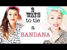 How To Tie A Bandana 2 Ways in Your Hair - YouTube this will be cute with my new short hair cut!!