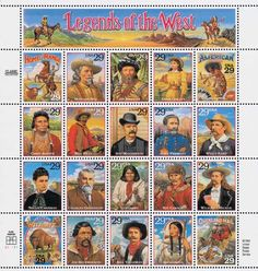 The controversial Legends of the West stamp sheet. (Click the image to read the full story.)